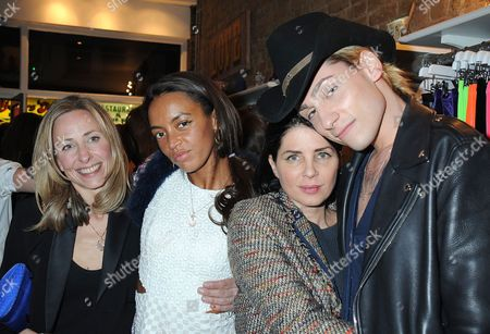 Stock Image of Lucy Olivier, Phoebe Pring, Sadie Frost and Kyle De'volle