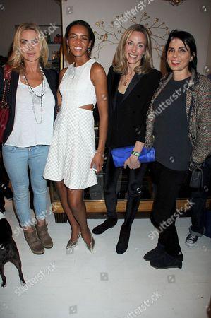 Meg Mathews, Phoebe Pring, Lucy Olivier and Sadie Frost