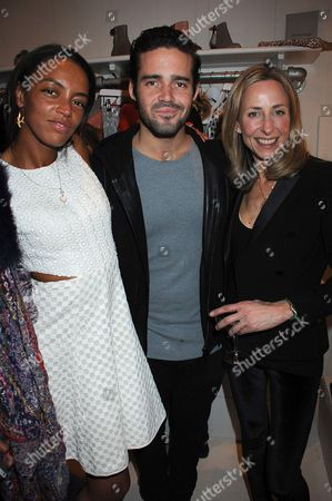 Phoebe Pring, Spencer Matthews and Lucy Olivier
