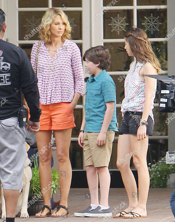 Editorial image of 'Growing Up Fisher' on set filming, Los Angeles, America - 25 Mar 2014