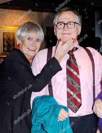 Stock Picture of Liz Dawn with the Jack Duckworth (Bill Tarmey) wax figure