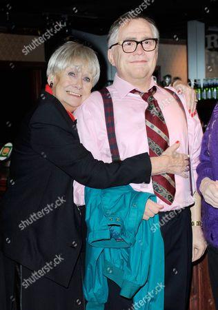 Liz Dawn with the Jack Duckworth (Bill Tarmey) wax figure