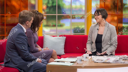 Stock Image of Aled Jones and Lorraine Kelly with Jess Edwards
