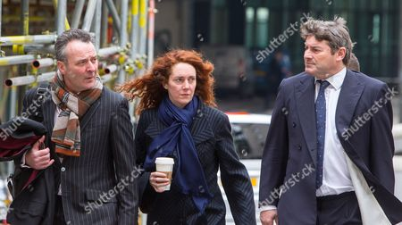 Charlie Brooks and Rebekah Brooks arrive at the Old Bailey with their barrister Jonathan Laidlaw