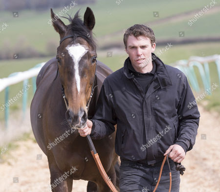 Editorial image of Mike Tindall and James Simpson-Daniel visit their race horse Monbeg Dude in Ross-on-Wye, Herefordshire, Britain - 26 Mar 2014