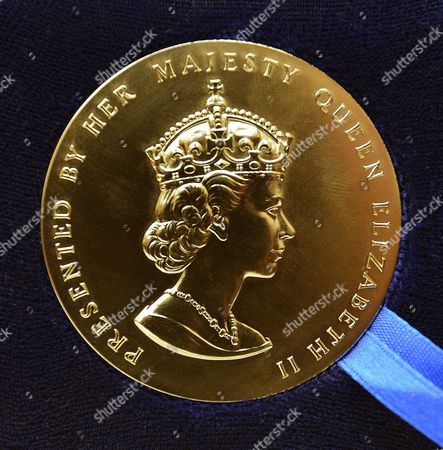 Stock Image of The Queen's Gold Medal for Poetry presented to Mr Douglas Dunn