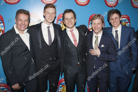 Stock Image of Richard Holloway, Max Parker, Scott Garnham, Billy Carter and Alan Morrissey