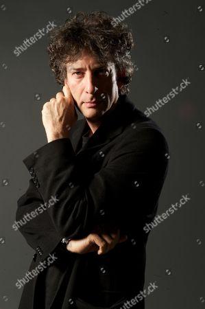 London United Kingdom - April 16: English Novelist Graphic Novelist And Screenwriter Neil Gaiman, Sfx Magazine April 16