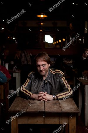 Bath United Kingdom - April 11: Portrait Of British Musician Comedian And Author Mitch Benn In Bath England On April 11