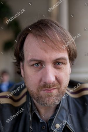 Stock Image of Bath United Kingdom - April 11: Portrait Of British Musician Comedian And Author Mitch Benn In Bath England On April 11