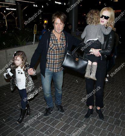 Keith Urban, Nicole Kidman, Faith Urban and Sunday Rose Urban