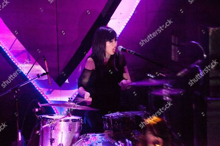 Editorial photo of Dum Dum Girls in concert at The Bowery Ballroom, New York, America - 25 Mar 2014