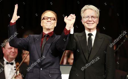 Stock Photo of Danny Elfman and conductor John Mauceri