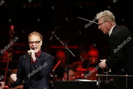 Stock Image of Danny Elfman and conductor John Mauceri