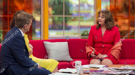 Aled Jones and Lorraine Kelly with Ayesha Vardag