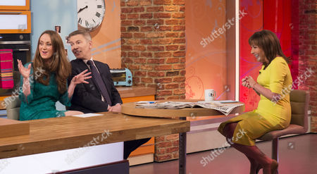 Martel Maxwell and Andrew Pierce with Lorraine Kelly
