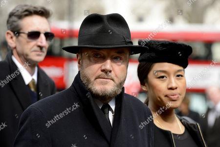 Stock Image of George Galloway and Putri Gayatri Pertiwi