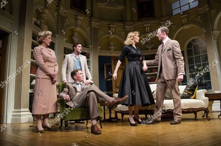 Patricia Hodge (Felicity), Steven Pacey (Peter), Ben Mansfield (Don Lucas), Leigh Zimmerman (Miranda Frayle) and Sam Hoare (Nigel)