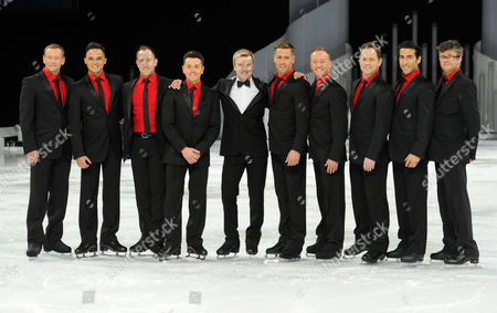 Stock Picture of Andrei Lipanov, Gareth Gates, Lukasz Rozycki, Ray Quinn, Christopher Dean, Matt Evers, Dan Whiston, Kyran Bracken, Andy Buchanan and Joe Pasquale