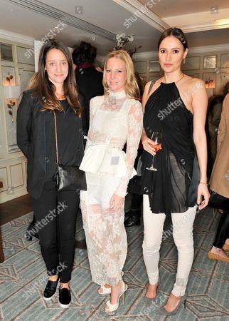 India Langton,, Alice Naylor-Leyland and Sasha Volkova