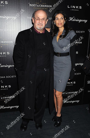 Stock Picture of Salman Rushdie and Missy Brody