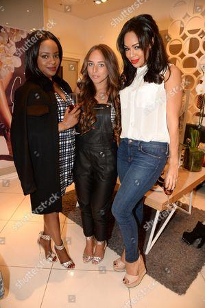 Keisha Buchanan, Chloe Green and Sarah-Jane Crawford