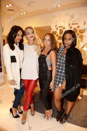 Sarah-Jane Crawford, Rita Ora, Chloe Green and Keisha Buchanan