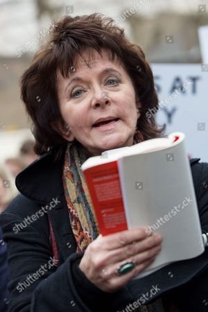 Editorial image of Writers and actors protest against book ban at Pentonville Prison, London, Britain - 28 Mar 2014