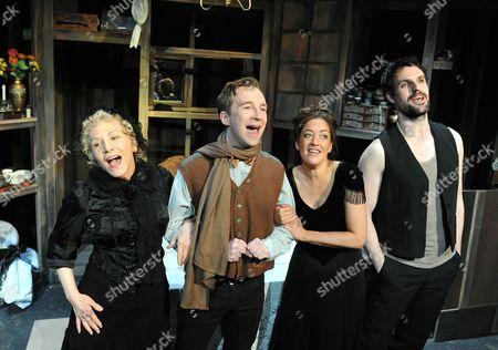 Tara Hugo as Madame Raquin, Jeremy Legat Camille,  Julie Atherton asTherese, Ben Lewis as Laurent,