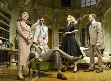 Patricia Hodge as Felicity, Steven Pacey as Peter, Ben Mansfield as Don, Leigh Zimmerman as Miranda, Sam Hoare as Nigel