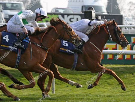 GRAPHIC and Seb Sanders Win The Doncaster Mile Stakes from Fencing and Robert Havlin DONCASTER LINCOLN DAY
