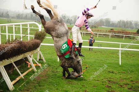 NAVAN. Thankfully both Liam McKenna and HAUGHTONS BRIDGE were both ok after their crashing fall at the final fence.