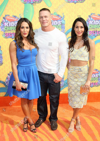 Stock Picture of Brianna Garcia-Colace, John Cena and Nikki Bella