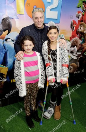 Donal MacIntyre and his two children Allegra MacIntyre and Tiger-Lily MacIntyre