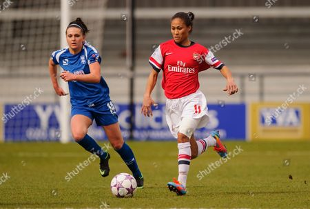 Stock Picture of Melissa Lawley of Birmingham City Ladies and Rachel Yankey of Arsenal Ladies