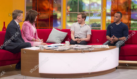 Presenters Aled Jones and Lorraine Kelly with Colin Young and Nicolas Hamilton