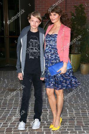 Helena Christensen and son Mingus Lucien Reedus