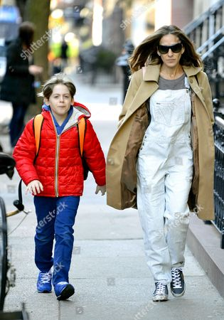 Editorial picture of Sarah Jessica Parker out and about, New York, America - 01 Apr 2014