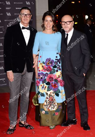 Coco Brandolini (C) with Stefano Gabbana and Domenico Dolce
