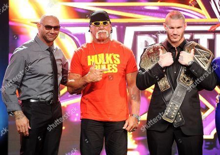 Dave Batista, Hulk Hogan and Randy Orton