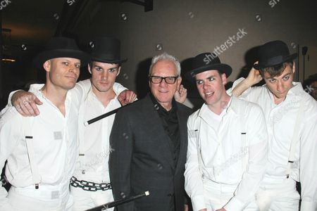 Malcolm McDowell and droogs