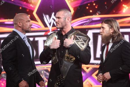 Paul Levesque, Randy Orton and Daniel Bryan