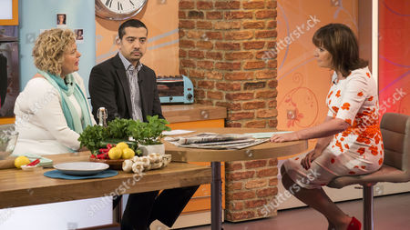 Eleanor Mills and Mehdi Hasan with Presenter Lorraine Kelly