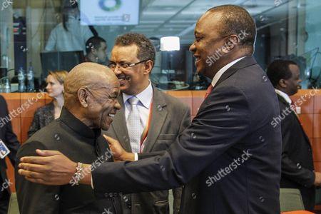 Lesotho President Tom Thabane and Kenyan President Uhuru Kenyatta