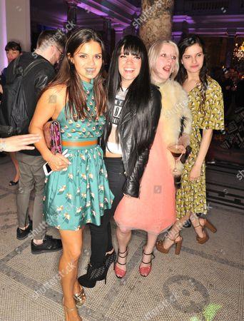 Bip Ling, Lily Allen, Harriet Verney and Evangeline Ling
