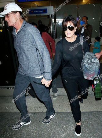 Editorial picture of The Kardashians at LAX Los Angeles International Airport, America - 02 Apr 2014