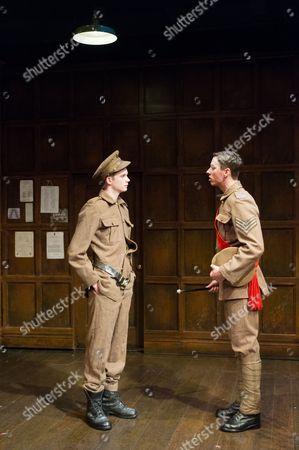 Rob Callender (Bennett) and Rowan Polonski (Fowler)