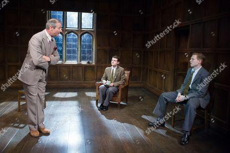 Julian Wadham (Vaughan Cunningham), James Parris (Menzies), and Will Attenborough (Judd)