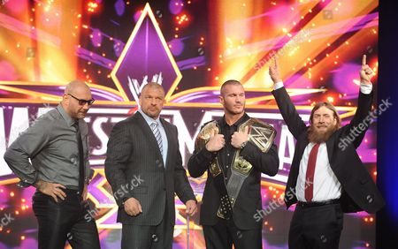 Dave Batista, Paul Levesque, Randy Orton and Daniel Bryan