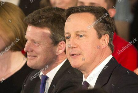 Prime Minster David Cameron with Newbury MP Richard Benyon (left).